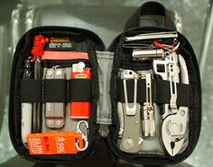 Survival camping tips Bug Out Gear, Everyday Carry Items, Edc Bag, Tac Gear, Go Bags, Pocket Organizer, Survival Tools, Survival Stuff, Tactical Gear