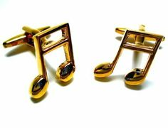 Gold Music Note Cufflink CuffCrazy. $35.00. Hand Made in the USA!. Money Back if not 100% Satisfied!. Free Gift Box Included!