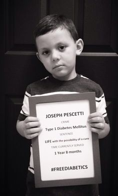 Little Joseph Pescetti. Diagnosed at age 3, he hasn't been free in 1 year, 8 months. Current life sentence. Let's hope that changes in his lifetime! #freediabetics #weneedacure #type1 #t1d #type1diabetes #curediabetes #insulinisnotacure #diabetesadvocacy #diabetesawareness #incarcerated #mugshot #jail #possibilityofacure #lifesentence #life #type1diabetesMellitus #weneedacure #diabetessucks #nopricks #type1mom #t1dmom #diabeticwarriors #type1survivors