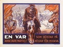 """Affischer från """"Kosackvalet"""" 1928. Stockholms Auktionsverk. EST: 16 000 SEK. barnebys.se"""