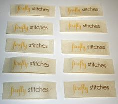 Firefly Stitches: DIY Clothing Labels