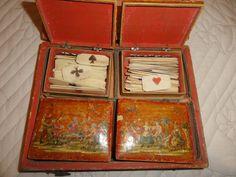 BOITE à QUADRILLE avec JETONS en ARTE POVERA XVIIIème.   eBay