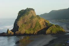 Lion Rock--One of our first dates was at Piha, one of Auckland's best beaches.