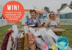 WIN 2 x Full Experience tickets to The Handmade Fair AND a Lustre Floor Cushion designed and made by Yanii Akeliah with @folksy