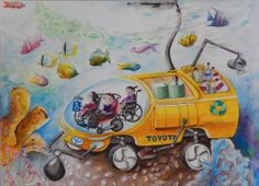 Toyota Financial Services (TFS) announces its year of hosting the worldwide Toyota Dream Car Art Contest in the United States, which is designed to inspire creativity in youth and encourage an … Dream Painting, Painting For Kids, Drawing For Kids, Art For Kids, Diwali Greetings Images, Toyota, Art Competitions, Car Drawings, Art Lessons