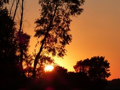 Sunset at Maumee Bay State Park, Sept. 2014.