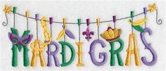 Machine Embroidery Designs at Embroidery Library! - Mardi Gras