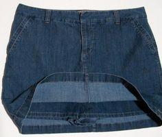 Denim Skort, Shorts Underneath Size 16 SonomaTennis Golf Sports Anytime #Sonoma #Denim at JustLuvTreasures.com
