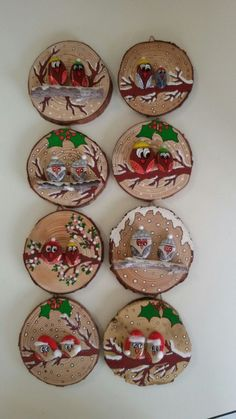 100 kreative ideen für steine bemalen in weihnachtsstimmung – Artofit - - Wood Ornaments, Diy Christmas Ornaments, Diy Christmas Gifts, Christmas Projects, Christmas Decorations, Christmas Ideas, Christmas Pebble Art, Christmas Rock, Christmas Humor