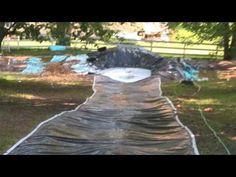 Redneck water slide, with a twist! (into a pond ; Diy For Teens, Diy For Kids, Cool Kids, Outdoor Games For Kids, Outdoor Fun, Outdoor Ideas, Backyard Water Parks, Summer Backyard Parties, Slip N Slide