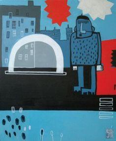 Sabina Twardowska, 'Chillout in the city', 50x60 cm, oil on canvas, 2013