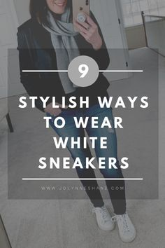 db6ca632acd 9 Stylish Ways to Wear Solid White Fashion Sneakers