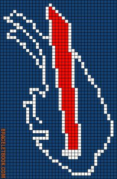 Alpha friendship bracelet pattern added by hayleykrug. Plastic Canvas Ornaments, Plastic Canvas Crafts, Plastic Canvas Patterns, Native Beading Patterns, Beaded Earrings Patterns, Bead Patterns, Cross Stitch Designs, Cross Stitch Patterns, Buffalo Bills Logo