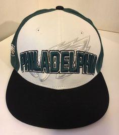 17c5485df Philadelphia Eagles Snapback Hat Cap New Era NFL White Green Football