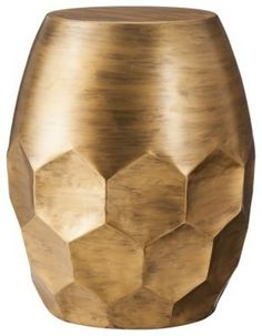 Threshold Round Metal Honeycomb Accent Table, Gold - contemporary - Side Tables And Accent Tables - Target