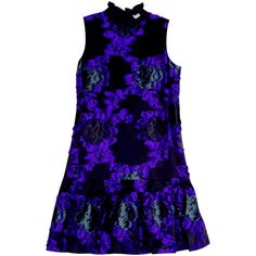 ERDEM Nisette Dress ($1,657) ❤ liked on Polyvore featuring dresses, floral embroidered dress, floral printed dress, erdem dress, flower pattern dress and blue dress