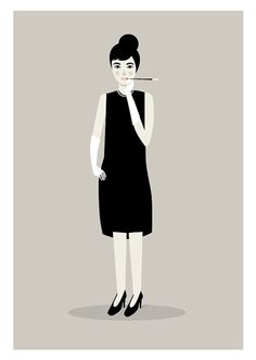 {Audrey as Holly print} by Judy Kaufmann