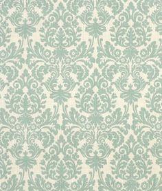 Robin's egg blue damask fabric
