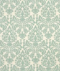 Robin's egg blue damask fabric