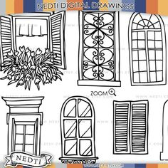 Windows Doodle ClipArt finestra Clipart immagini digitali di Nedti