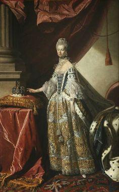 International Portrait Gallery: Retrato de la Reina Charlotte Sophie de Gran-Breta...