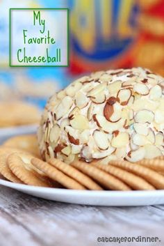 My absolute Favorite Cheeseball - This is always a huge hit at parties. from: eatcakefordinner.blogspot.com #recipe #appetizers #cheeseball