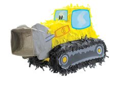 "Bulldozer 18�"" Pinata Party Supplies, (bob the builder, hats, factory card and party outlet, cake supplies, construction sign cutouts)"