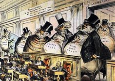 "Joseph Keppler:  ""The Bosses of the Senate"", 1889. ""It's never been such a good time to be a crook. In what other country of laws does one enjoy so much freedom to defraud one's government and fellow citizens without having to worry about cops showing up at the door?""  Charles Simic, ""A Thieves' Thanksgiving."" NYRblog 