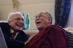 Marco Pannella with the Dalai Lama