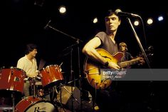 David Byrne and Chris Frantz (drums) and Tina Weymouth (bass) from Talking Heads…