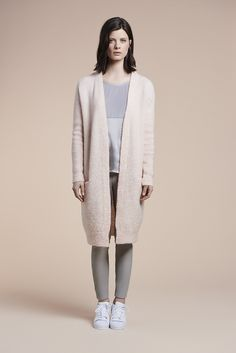 Nevers long cardigan, Omere mixed top and Lexis leather leggings  http://www.dante6.com