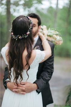wedding hair/ wreath