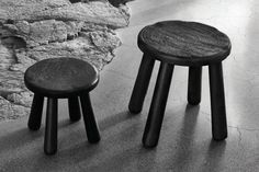 These wooden stools can double as side tables. We love the ripple detailing on top. #refinery29 http://www.refinery29.com/2016/08/121772/ikea-svartan-collection-another-india#slide-1