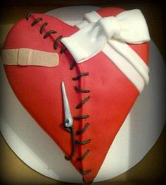 Surgery Cakes | Open heart surgery cake to celebrate surgery date! So cute!