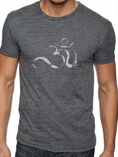 Anjali Clothing Mens Ohm Burnout Tee Asphalt $42 @  www.downdogboutique.com #YogaClothes #Yoga