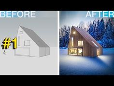 Photoshop Arquitectura Visualización # 1 Invierno. Casa de Campo - YouTube