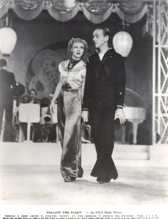 Ginger Rogers and Fred Astaire Follow the Fleet