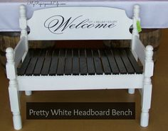 How to make a bench out of a twin headboard using a Kreg Jig by My Repurposed Life