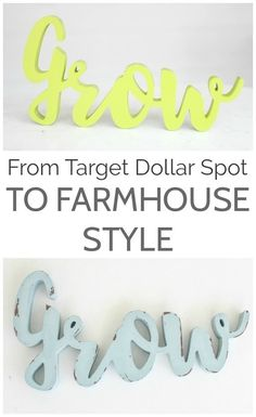 Easy trick to turn a dollar spot or dollar store find into perfect farmhouse home decor.  How to get a perfect chippy paint finish in 30 minutes - no sanding required!
