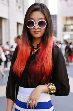 13 Fantastic Candy Colored Hairstyles Spotted At Fashion Week