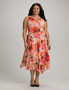 Plus Size Cute Clothes For Derby Plus Size Asymmetrical Floral