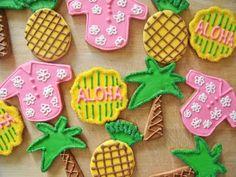 hawaiian decorated cookies | Hawaiian Cookies
