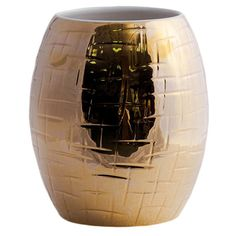 Ceramica Gatti 1928 Home Gold Hand Painted Ceramic Vase (€545) ❤ liked on Polyvore featuring home, home decor, vases, decor, props, round vase, handpainted vase, gold ceramic vase, ceramic vases and gold vase