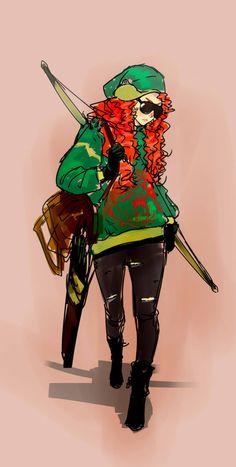 Modern Merida from Brave, just a doodle, but i luv her style. Merida Disney, Disney Xd, Cute Disney, Disney Cartoons, Disney Pixar, Brave Merida, Disney Facts, Disney Girls, Disney Fan Art