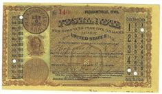 Pleasantville, IA 1883 Postal Note #140 Issued for 2 cents; payable at Hopewell, NY