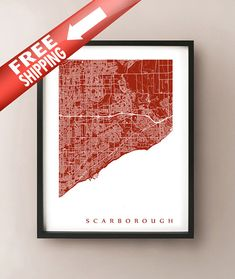 Scarborough, Ontario map print by CartoCreative
