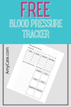 Free Blood Pressure Tracker – Amy Cate