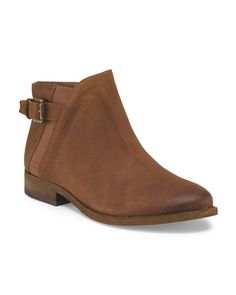 Leather Kennedy Low Bootie
