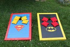 Superman - Batman Cornhole Set