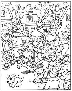 St Nicholas Coloring Sinterklaas Kleurplaten St
